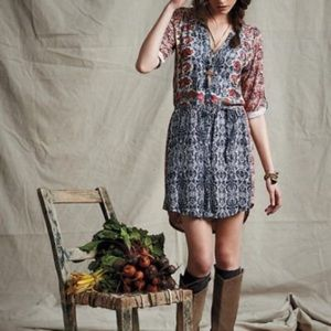 Anthropologie Tiny Perenne Shirt Dress